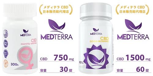 メディテラ(medterra)用途別CBDカプセル